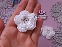 Белые Цветы для свадебного украшения диаметр 5 см для скрапа