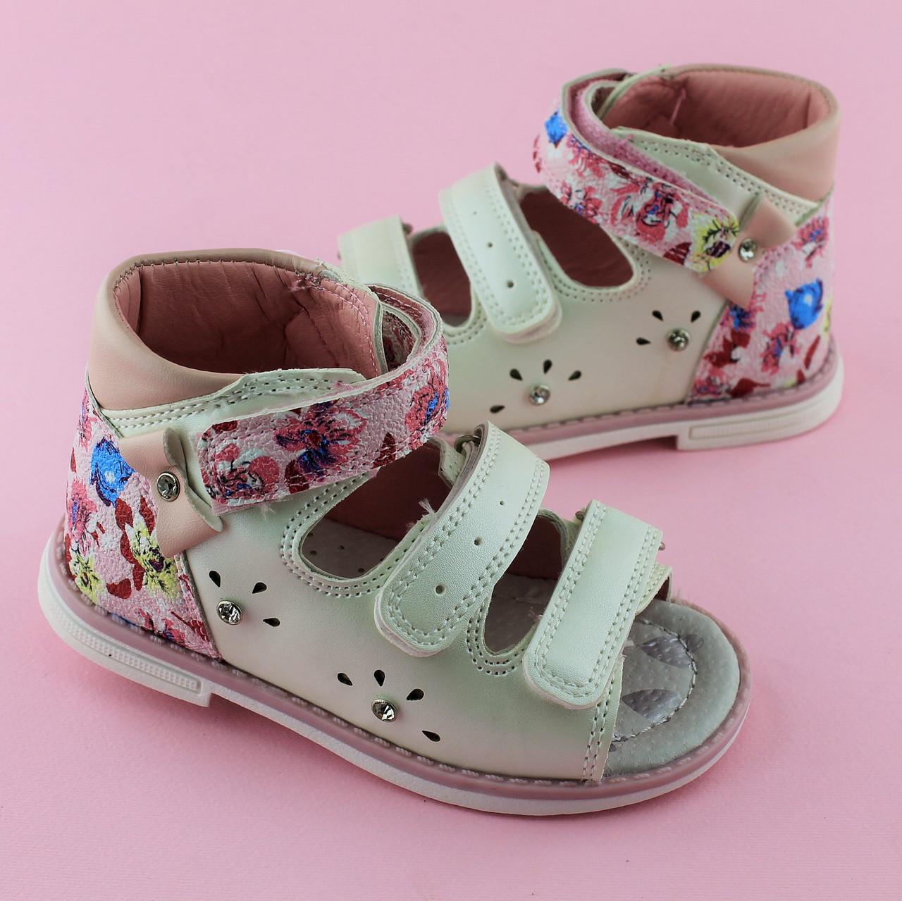84bebfded Босоножки девочке белые серия Ортопед Tomm размеры 21 - BonKids - детский  магазин обуви в Киеве