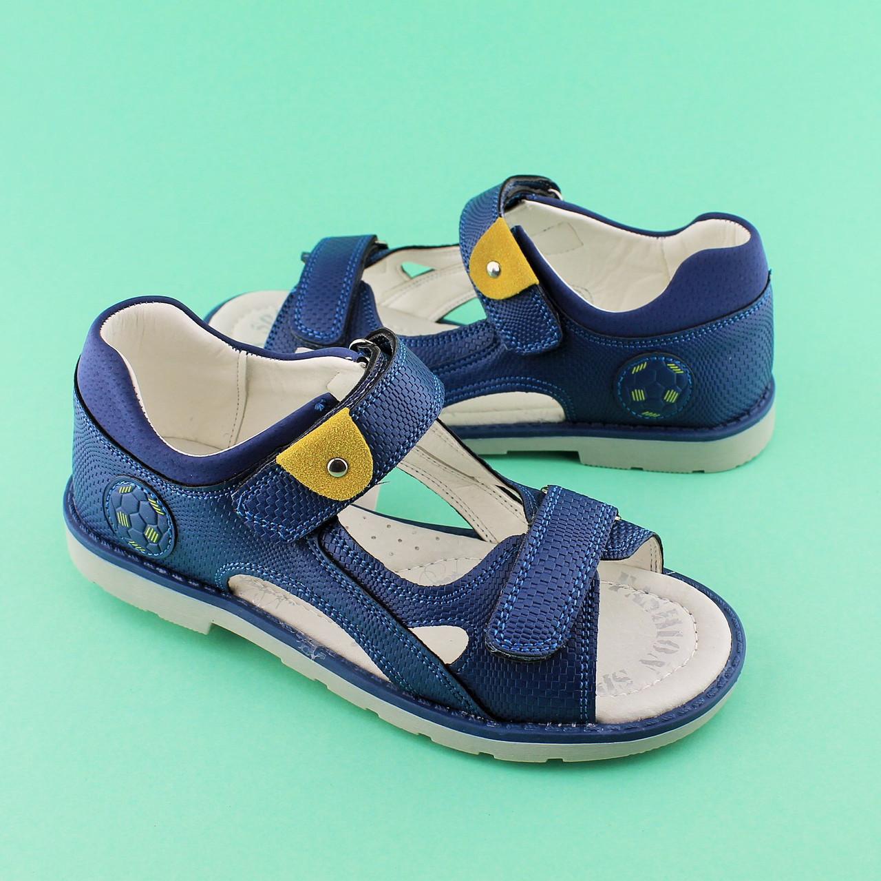 5116fa752 Синие босоножки для мальчика серия Классика Ортопед тм TOMM размеры  33,34,35,