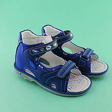 Синие ортопедические босоножки на мальчиков ТМ Том.М размер 21,23