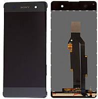 Дисплей (экран) для телефона Sony Xperia XA F3111, Xperia XA Dual F3112, Xperia XA F3113, Xperia XA F3115, Xperia XA Dual F3116 + Touchscreen Black