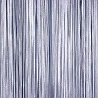 Шторы нити Однотонные №7 Серый