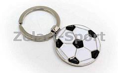 Брелок Мяч футбольный  (металл хром, d-3,5см, цена за 1 шт.)
