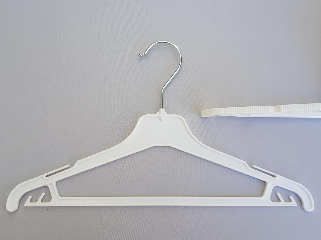 Плечики детские пластмассовые V-PY35 белые, 35 см