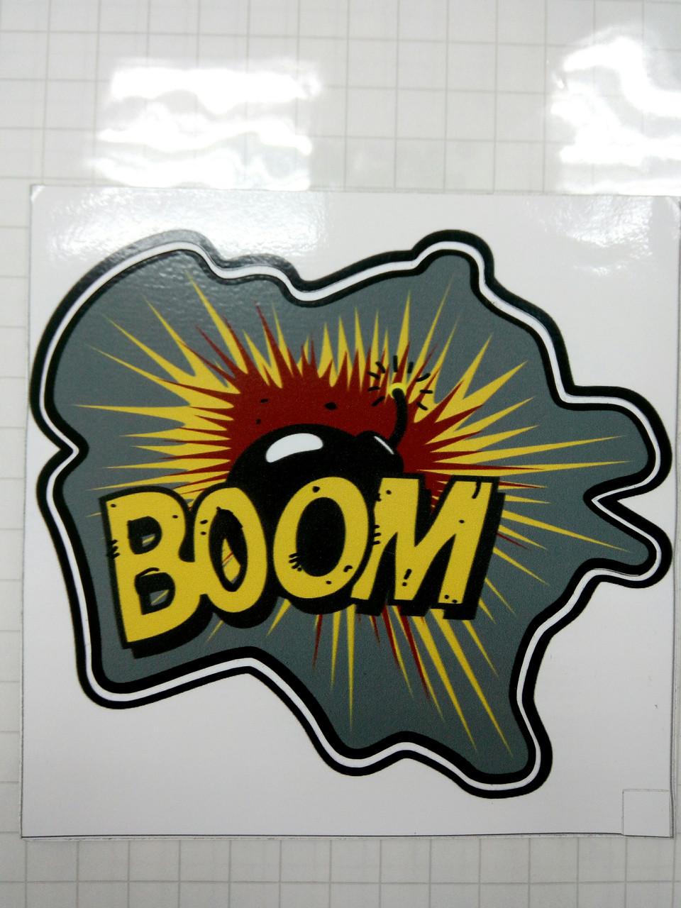 Виниловая наклейка BOOM  12,5х12,5 см