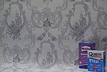 Обои, на стену, винил на флизелине, В109 3501-10, княжна, серый, черно-белый, 1,06*10м, фото 3