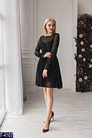 Платье в горошек черное и темно-синее, фото 1