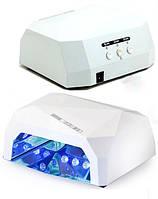 🎈Лампагибрид кристалл CCFL+ LED UV — 36W diamond для маникюра и педикюра — белая, Оригинал 👍🏻