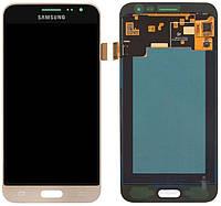 Дисплей (экран) для телефона Samsung Galaxy J3 (2016) J320H + Touchscreen Gold