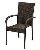 Плетенный стул Сакура ЧФЛИ 940х560х620 мм из техноротанга