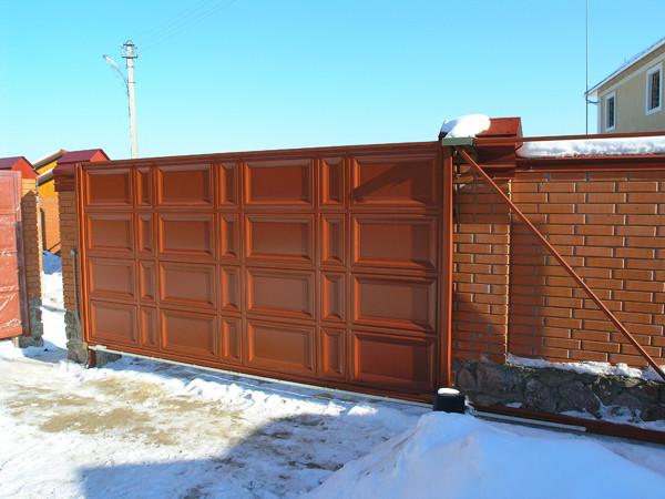 Відкатні ворота 5000х2500 заповнення фільонка