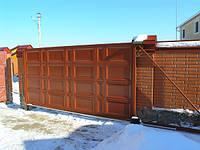 Откатные ворота 5000х2500 заполнение филенка