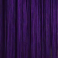 Шторы нити Однотонные №212 Тёмно Фиолетовый