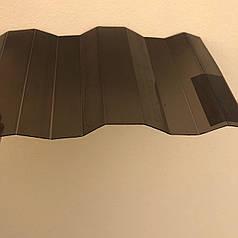 Бронзовый профилированный  поликарбонат  1,05*4м