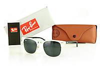 16f6683b8589 Солнцезащитные очки реплика RAY BAN CLUBMASTER черные градиент, оправа серая