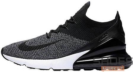 Мужские кроссовки Nike Air Max 270 Flyknit Black/White, Найк Аир Макс 270, фото 2