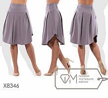 Женская батальная юбка по колено
