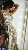 Платье с цвтами в пол T-4281, фото 1