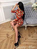 Женское стильное яркое красное платье , фото 1