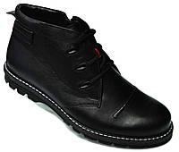 """Зимние мужские ботинки """"Mida"""". Натуральная шерсть. Черные"""