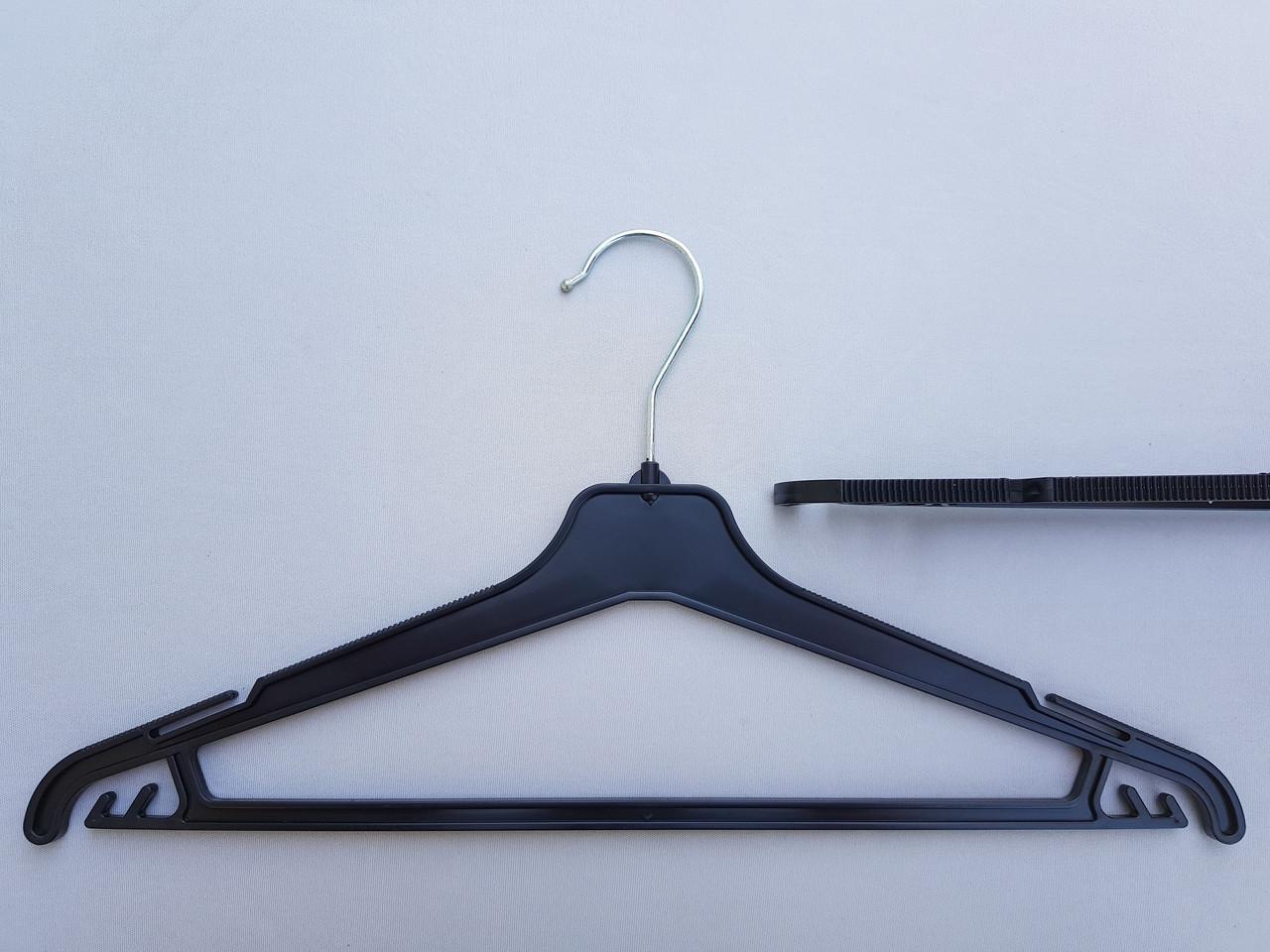 Довжина 42 см. Плічка вішалки пластмасові V-PY42 чорні