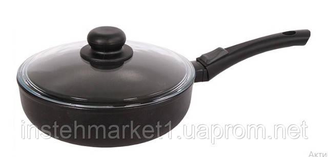 Сковорода БИОЛ 26091ПC (260х134 мм) алюминиевая с антипригарным покрытием, бакелитовая ручка, c крышкойв интернет-магазине