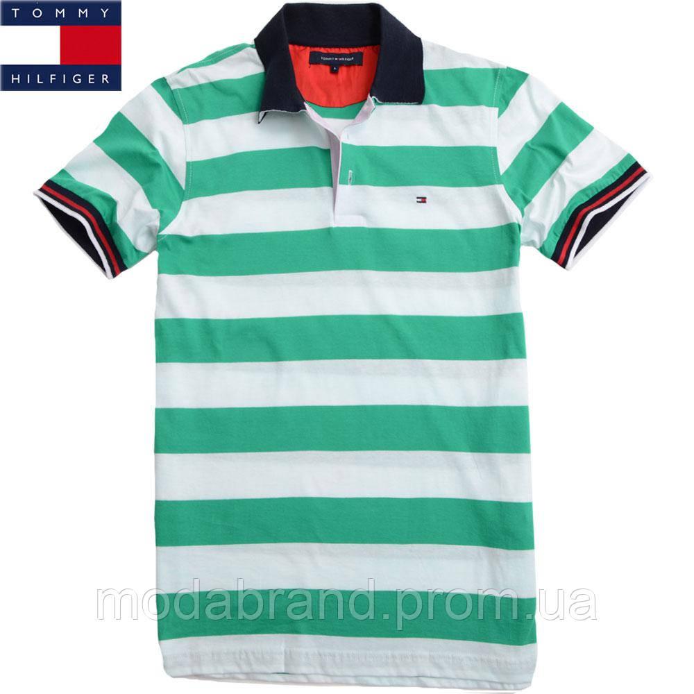 72df320c3060e Футболка мужская Tommy Hilfiger(реплика)-144 зеленая -