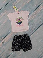 Комплект на девочку летний (футболка, шорты), р. 74