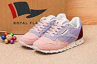 b7e0a141d050 Кроссовки женские в стиле Reebok Classic, розовые (1015-5),   37