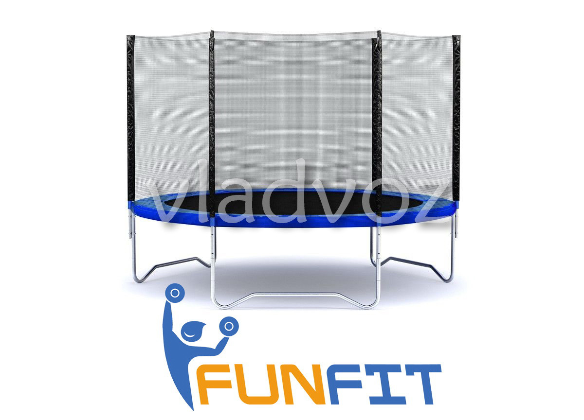 Батут детский уличный с защитной сеткой для дачи Funfit 183 см.