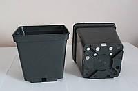 Горшок для рассады 1,5л (13x13x13см),квадратный,черный,100шт\уп