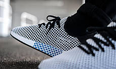 Мужские кроссовки Adidas Deerupt Runner Core Black/Core Black/Cloud White CQ2626, Адидас Дирапт Ранер, фото 2