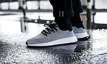 Мужские кроссовки Adidas Deerupt Runner Core Black/Core Black/Cloud White CQ2626, Адидас Дирапт Ранер, фото 3