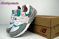 Женские кроссовки New Balance 999 белые с серым