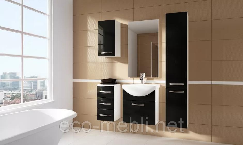 Комплект меблів для ванної Koral Чорний