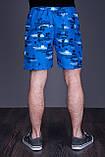 Чоловічі пляжні шорти (плащівка), синього кольору, фото 2