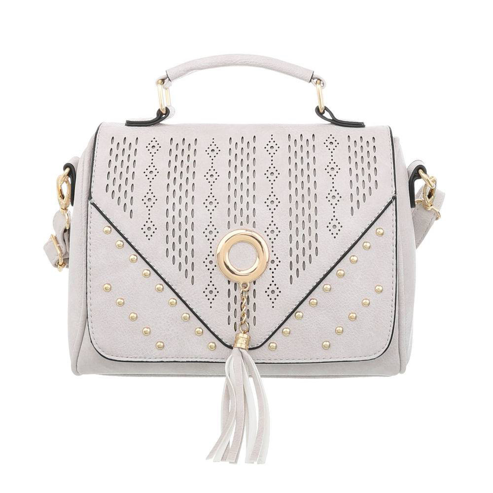 Маленькая женская сумка с заклепками (Европа) Светло-серый