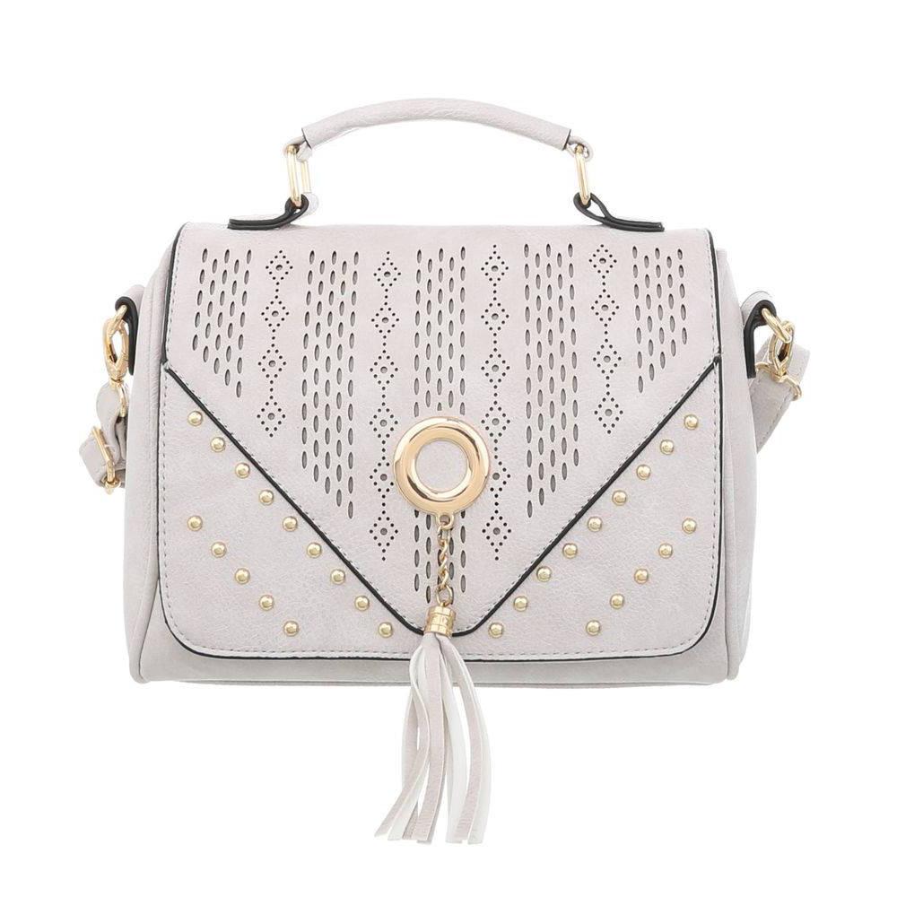 aee9dd6bab08 Маленькая женская сумка с заклепками (Европа) Светло-серый -  Интернет-магазин Denim