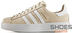 Женские кроссовки Adidas Superstar Bold W beige