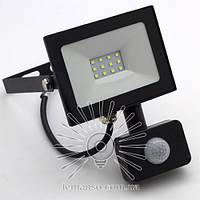 LED прожектор с датчиком LEMANSO 10W 6500K IP65 800LM черный LMPS17