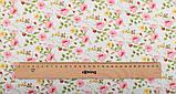 Набор отрезов ткани для пэчворка, скрапбукинга, рукоделия в персиковой гамме (8 отрезов  40*50 см), фото 5