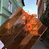 Янтарный профилированный  поликарбонат  1,05*2м, фото 3