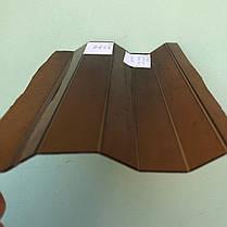 Янтарный профилированный  поликарбонат  1,05*4м, фото 3