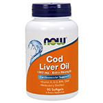 Рыбий жир NOW Foods Cod Liver Oil 1000mg 90 softgel