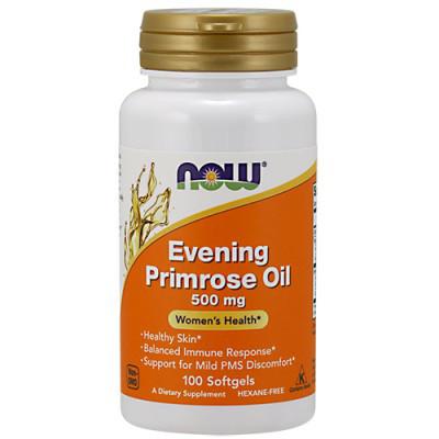 Масло Примулы NOW Foods Evening Primrose Oil 500mg 100 softgels