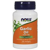 Масло Чесночное NOW Foods Garlic Oil 1500mg 100 softgels