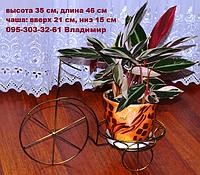 """Подставка для цветов """"Велосипед малый на 1 чашу"""", фото 1"""