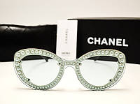Женские солнцезащитные очки Chanel 7769 Copy (мятный цвет), фото 1