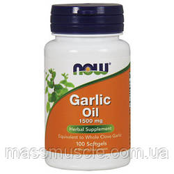 Масло Чесночное NOW Foods Garlic Oil 1500mg 250 softgels