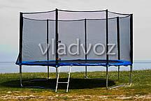 Батут детский уличный с защитной сеткой и лестницей для дачи Funfit 435 см., фото 3